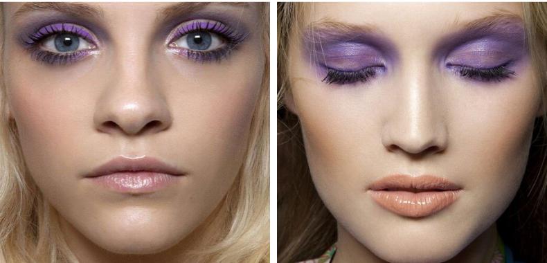 sombra violeta ojos verdes