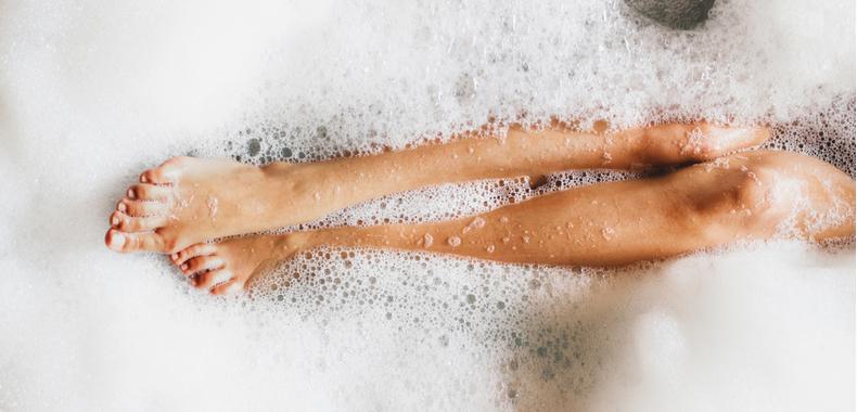 bañera con bicarbonato