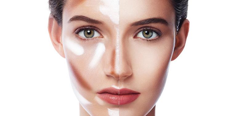 foto contouring rostro lineas