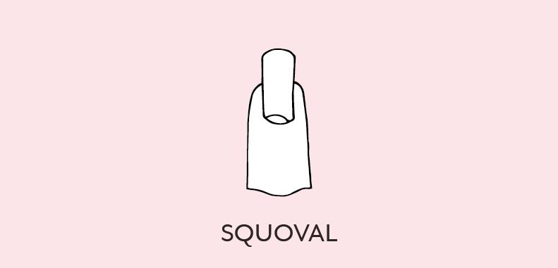 uñas squoval